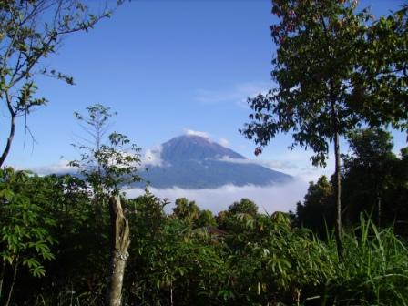 The beautiful mount Kerinci