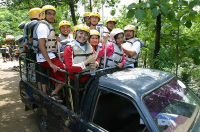 To the rafting start location